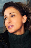 Hoch entwickelte junge Frau Stockfotografie