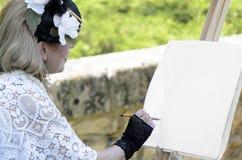 Hoch entwickelter Frauenmaler Lizenzfreies Stockbild