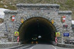 Hochalpenstrasse高山路在奥地利,这里Hochtor隧道 免版税库存照片