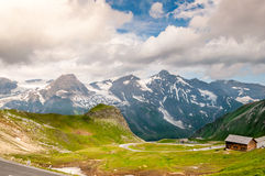 Hochalpenstrasse. Summer mountain before the rain Royalty Free Stock Image