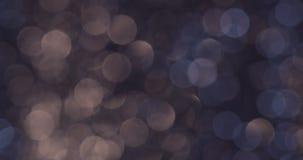 Hochauflösende Lichter verwischten bokeh abstrakte Hintergründe stock video