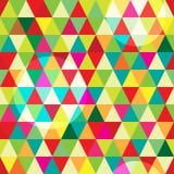 Hochauflösendes nahtloses Muster mit abstrakten geometrischen bunten Dreiecken und Kreisen Stockbilder