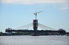 Hochbaubrücke Stockbild