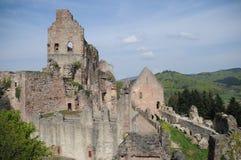 Hochburg城堡废墟 库存照片