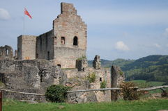Hochburg Castle Ruin. Hochburg is a large castle fortress located in the village of Emmendingen in Germany. Many Germans spend their free time there, trying to Stock Photo