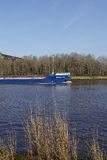 Hochdonn – General cargo vessel Iberica HAV at the Kiel Canal Royalty Free Stock Photography