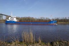 Hochdonn – General cargo vessel Fehn Caledonia at the Kiel Canal Stock Photo