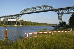 Hochdonn - Rail bridge over the Kiel Canal Stock Images