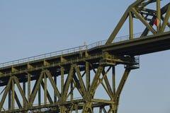 Hochdonn - Rail bridge over the Kiel Canal Stock Photos