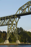 Hochdonn - Rail bridge over the Kiel Canal Stock Image