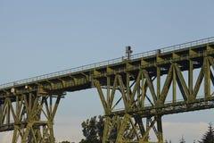 Hochdonn - Rail bridge over the Kiel Canal Royalty Free Stock Photography