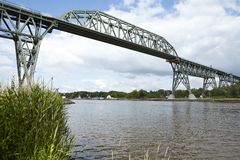 Hochdonn - Railroad bridge over the Kiel Canal Stock Photography