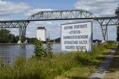 Hochdonn - Railway bridge over the Kiel Canal Royalty Free Stock Image