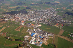 Hochdorf near Lucerne Luzern Switzerland town aerial view photog Stock Image