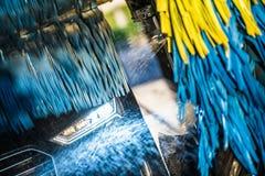 Hochdruckreiniger-Bürsten-Reinigung stockbild