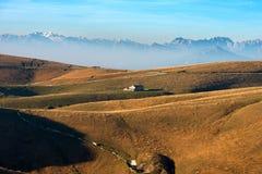 Hochebene von Lessinia und von italienischen Alpen Lizenzfreies Stockfoto