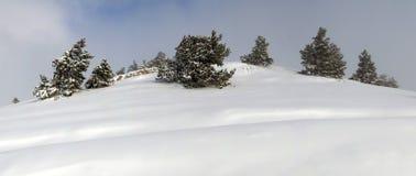 Hochebenepanorama Ah-Petri im Winter Stockfoto