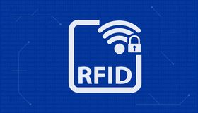 Hochfrequenz-Identifizierung RFID - Vektor-Illustration Stockfotografie