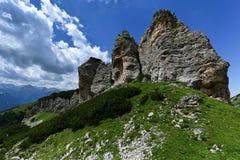 Hochgebirgelandschaft von Karwendel-Bergen Achensee-Bereich, Achensee, Tirol, Österreich Lizenzfreies Stockfoto