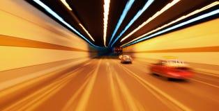 Hochgeschwindigkeitsauto im Tunnel Lizenzfreies Stockfoto