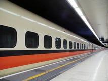 Hochgeschwindigkeitsbahnhof stockfotografie