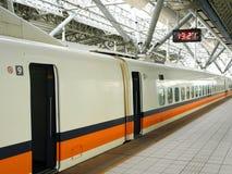 Hochgeschwindigkeitsbahnhof stockbilder