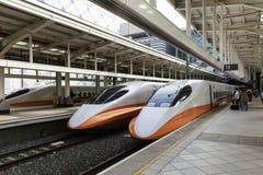 Hochgeschwindigkeitsbahnhof in Taiwan lizenzfreies stockbild
