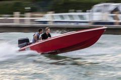 Hochgeschwindigkeitsboot Stockfoto
