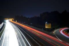 Hochgeschwindigkeitsdatenbahn Stockfoto