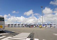 Hochgeschwindigkeitsfähreterminal - Gatter Calais Frankreich Stockfotografie
