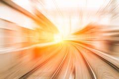 Hochgeschwindigkeitsgeschäfts- und Technologiekonzept, super schnelles schnelles der Beschleunigung lizenzfreies stockfoto