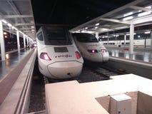 Hochgeschwindigkeitszüge in Alicante spanien Lizenzfreie Stockbilder