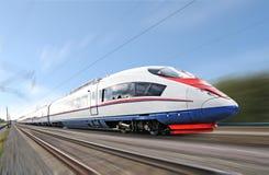 Hochgeschwindigkeitszug. Lizenzfreie Stockfotos