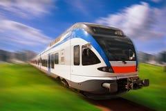 Hochgeschwindigkeitszug Lizenzfreies Stockbild