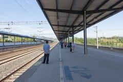 Hochgeschwindigkeitszugstation Lizenzfreies Stockfoto