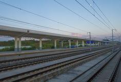 Hochgeschwindigkeitszugstation Stockfoto