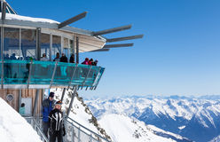 Mountain Star Viewpoint in Hochgurgl, Austria Royalty Free Stock Photo