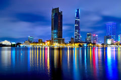 Hochiminh city at night Royalty Free Stock Photography