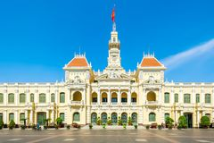 Hochiminh city Peoples Committee building. HOCHIMINH CITY, VIETNAM: Peoples Committee building in Hochiminh city, Vietnam. Hochiminh city is the biggest city in Stock Photo