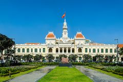 Hochiminh city Peoples Committee building. HOCHIMINH CITY, VIETNAM: Peoples Committee building in Hochiminh city, Vietnam. Hochiminh city is the biggest city in Stock Photos