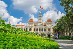 Hochiminh city Peoples Committee building. HOCHIMINH CITY, VIETNAM- JUNE 9: Peoples Committee building in Hochiminh city, Vietnam on June 9, 2015 . Hochiminh Stock Photography