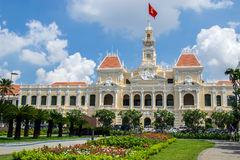 Hochiminh city Peoples Committee building. HOCHIMINH CITY, VIETNAM- JUNE 9: Peoples Committee building in Hochiminh city, Vietnam on June 9, 2015 . Hochiminh Stock Images