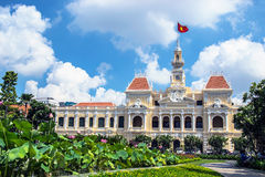 Hochiminh city Peoples Committee building. HOCHIMINH CITY, VIETNAM- JUNE 9: Peoples Committee building in Hochiminh city, Vietnam on June 9, 2015 . Hochiminh Stock Photos