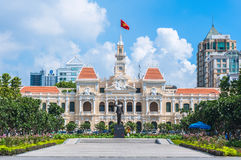 Hochiminh city Peoples Committee building Stock Image