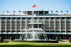 The Independence Palace in Hochiminh city, Vietnam. Royalty Free Stock Photo