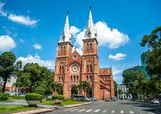 Notre Dame cathedral in Saigon Ho Chi Minh City. HOCHIMINH CITY - VIETNAM: Notre Dame cathedral in Saigon Ho Chi Minh City, Vietnam. Built in French domination Royalty Free Stock Images