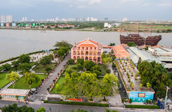 Hochiminh Vietnam. July 3, 2014: View of the Nha Rong Wharf hochiminh City, Vietnam stock photos