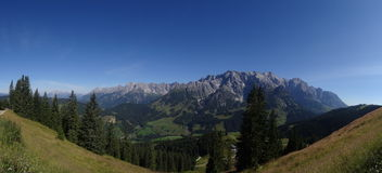 Hochkoenig, Berchtesgadener-Alp, Oostenrijk Royalty-vrije Stock Afbeeldingen