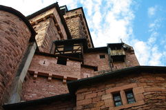 Hochkoenigsbourg rampart Royalty Free Stock Images