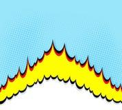 hochkonjunktur Comic-Buch-Explosionshintergrund Lizenzfreie Stockfotos